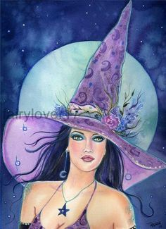 Items similar to Aceo lustre print Mallory witch fantasy art By Renee on Etsy Fantasy Kunst, Fantasy Art, Fantasy Witch, Witch Pictures, Witch Pics, Autumn Witch, Evil Witch, Beautiful Witch, Pagan Art