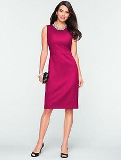 Talbots - Italian Flannel Seamed-Bodice Dress | Dresses | Misses