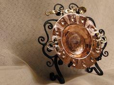 Brasero cobre con badila y soporte forja.