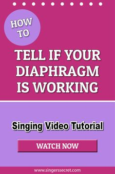How To Tell If Your Diaphragm Is Working Properly For Singing. #singing #lesson