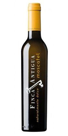 Finca Antigua Moscatel   Es un vino dulce elaborado con la variedad Moscatelmorisco mediante la técnica del asoleo,que consiste en el secado natural de la uva en paseras, fermentación en depósitos de acero inoxidable y parada fermentativa de forma que el alcohol y azúcar, se obtienen de forma natural de la uva.: