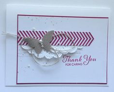 Great card using Gorgeous Grunge, some DSP, Elegant Butterfly Punch and a sentiment by Heather Summers.
