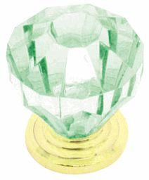 "Light Green ""Cut"" Acrylic Knob - 35mm"
