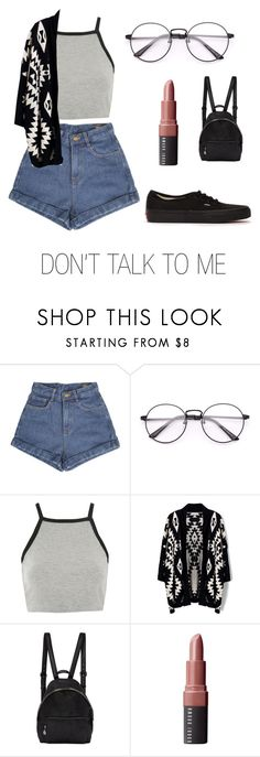 """DON'T TALK TO ME"" by natalialima0502 on Polyvore featuring Topshop, Chicwish, STELLA McCARTNEY, Bobbi Brown Cosmetics e Vans"