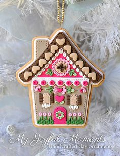 Handcrafted Polymer Clay Gingerbread House by MyJoyfulMoments