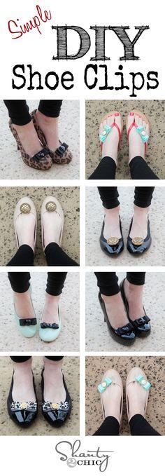 DIY Shoe Clips... So easy and so cute!!