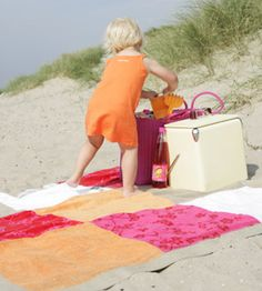 diy beach towel quilt  Great idea to use some of those old towels.