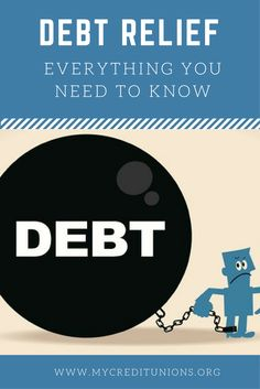 Debt Relief | Everything You Need to Know  Being in debt can be a stressful experience, or worse, a way of life. Do feel as if you're always running out of money before the end of the month? Are your credit cards maxed out?  There are five types of debt relief programs. They are a Debt Consolidation Loan, Balance Transfer, Debt Management Plan, Debt Negotiation (or debt settlement) and Bankruptcy.