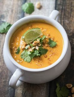 Thai Sweet Potato & Carrot Soup 30 Soups You Can Make in 30 Minutes or Less via @PureWow