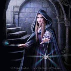 Light in the Darkness by Anne Stokes. Image from Anne Stokes. Anne Stokes, Dark Fantasy Art, Fantasy World, Mythical Creatures, Fantasy Creatures, Lisa Parker, Gothic Wallpaper, Gothic Fairy, Dark Gothic