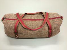 Mod.13 - light brown bag - caramel mou/dark red stripes
