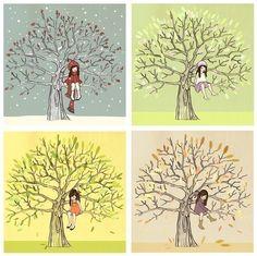 The Four seasons - belleandboo (etsy)