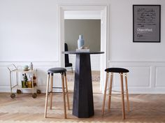 P.A Bar Stools and P.A Bar Table by Soren Rose Studio
