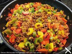 Minced meat - paprika rice stew - Food and drink - Gesunde Essen İdeen Meat Recipes, Healthy Recipes, Guisado, Carne Picada, Mince Meat, Le Diner, How To Cook Pasta, Ground Beef, Ground Turkey