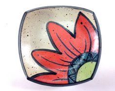 Petite Plate Flower Dish Ring Catcher by LaPellaPottery on Etsy