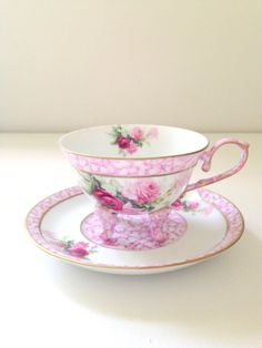 Vintage Fine Porcelain Treasures Footed Tea Cup by MariasFarmhouse, $65.00