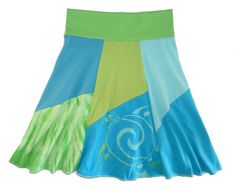 Sea Turtle Boho Chic Hippie Skirt Women's Small Medium  upcycled t-shirt clothing from Twinkle