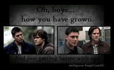 Oh, boys how you've grown.... And just getting better with age