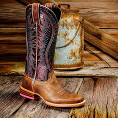 Ariat Vaquera 10017363 Saddle Tan Cowgirl Boots - Boyers BootNShoe