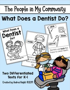 My Community, Community Helpers, Dental Health Month, Nonfiction Text Features, Middle School English, English Language Arts, Dentists, Reading Levels, Upper Elementary