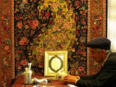 Carpet the Art Market (Iran). 'Iran's bazaars are home to a dizzying array of arts and crafts, from fine miniatures, marquetry, ceramics and glasswork and, of course, the most famous of all Iranian arts, a huge array of Persian carpets and kilims. Carpet shops are everywhere but the bazaars in Esfahan, Shiraz and Tehran are the most enjoyable and memorable places to bargain for rugs.' http://www.lonelyplanet.com/iran