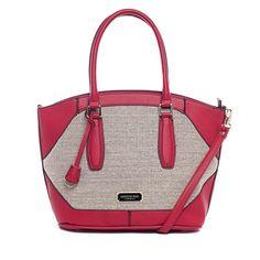 ロンドンフォグ エイブリー リネン ショルダーバッグ レッド London Fog Women's Avery Linen Shoulder Bag Red