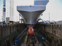 A bordo del HMS Prince of Wales, el nuevo £3 mil millones de buque de guerra Británico que es incluso más grande que el HMS Queen Elizabeth
