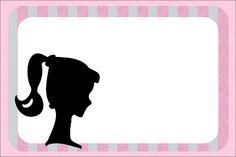 Invitaciones para imprimir gratis de Barbie Silueta.