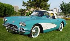 My dad had one like this... same color, but solid turquoise without the white side panels. My parents still miss that car. Wish they'd been able to keep it!