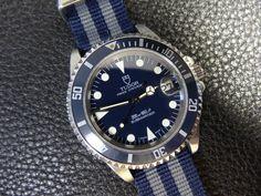 1960s TUDOR BY ROLEX SUBMARINER, REF. 7016/0, BLUE, VINTAGE WATCH OVERHAULED