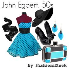 """John Egbert: 50s"" by fashionistuck on Polyvore"