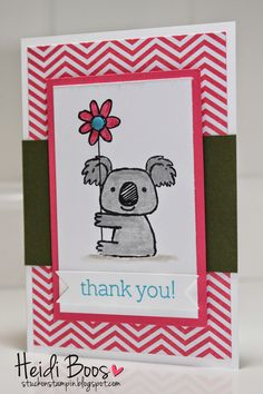 Stuck on Stampin': SSINK - kind koala color challenge (#SSINKCC12, Heidi Boos, Stuck on Stampin')
