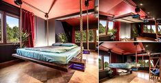 Moving your bed to maximize the room area would become easier with Gorgeous Hanging Bed. Though it has been viewed as a classy version of the hammock, designer WiktorJazwiec has to show much more than this.
