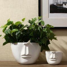 2019 New Chinese Jingdezhen Porcelain White Vases - Sukkulenten Deko Ceramic Flowers, Ceramic Planters, Ceramic Vase, Face Planters, Planter Pots, China Vase, China Pot, Grands Vases, Diy Molding