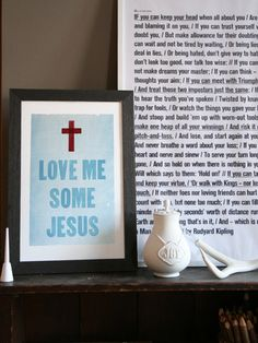 Love Me Some Jesus - The South - Old Try - Letterpress Print