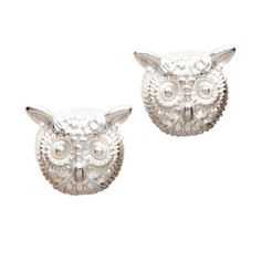 $13.00 Cobie Earrings  You don't have to be a night owl to love these silver stud owl head earrings. Special Sale till 01/11