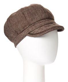 Loving this Brown Newsboy Hat on #zulily! #zulilyfinds