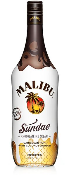 MALIBU Sundae  It's time to have your Sundae and drink it too! We dipped Malibu Coconut rum into rich chocolate to bring you a classic treat, MALIBU Sundae. The rich smell of chocolate and coconut is irresistible. With Malibu Sundae blend cool ice cream drinks that you can treat yourself with any day of the week. Don't forget the whipped cream!