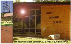 Trinity Lutheran Church, Vermillion.  South Dakota Synod, ELCA. Evangelical Lutheran Church in America.