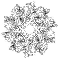 The zen sa wreath part 3 digital pattern was designed by Kim Diamond specifically for Statler Stitchers, Intelliquilters, ABM Innova, HandiQuilters and CompuQui Sunflower Coloring Pages, Mandala Coloring Pages, Colouring Pages, Adult Coloring Pages, Coloring Books, Mandala Painting, Mandala Drawing, Cultural Patterns, Barbie Coloring Pages