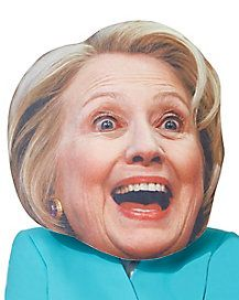 Giant Hillary Clinton Head Mask - Look like Hillary Clinton without having to put on a wig or makeup with this hilariously large mask! Head Mask, Political Party, The Ordinary, Wigs, Celebrities, Makeup, Make Up, Celebs, Celebrity