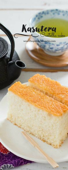 Castella, or Kasutera, is a popular Japanese sponge cake that was introduced to Japan by the Portuguese so it is quite similar to Madeira cake.