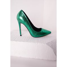 Missguided Stiletto Heeled court shoe Teal ($20) ❤ liked on Polyvore featuring shoes, pumps, teal, heels stilettos, famous footwear, women shoes, stiletto heel pumps and heels pumps stilettos