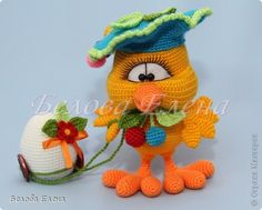 Игрушка Пасха Вязание крючком Вязание спицами Цыпленок Ягодка Пряжа фото 1