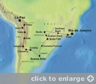 Andes to Rio Map