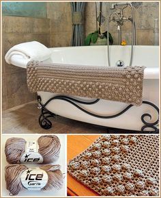 "Free crochet pattern - Bath Mat ~ it is an easy pattern but you get a great-looking bath mat ~ measures 24"" x 36"" ~ use cotton yarn & a ""J"" hook ~ FREE CROCHET pattern"