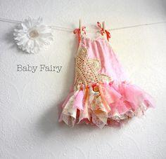 Shabby Chic Toddler Dress Children's Clothing by MyFairMaiden, $68.00
