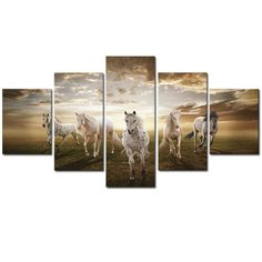 """Contemporary Equine Art - """"Running On A Sunset"""""""