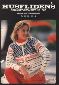 Husfliden 307 nyere utgave Norwegian Knitting, Men Sweater, Pullover, Jumpers, Sweaters, Jackets, Patterns, Christmas, Style