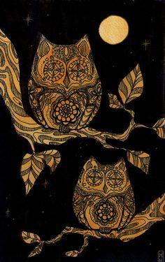 Folklore by Tankero Halloween Owls